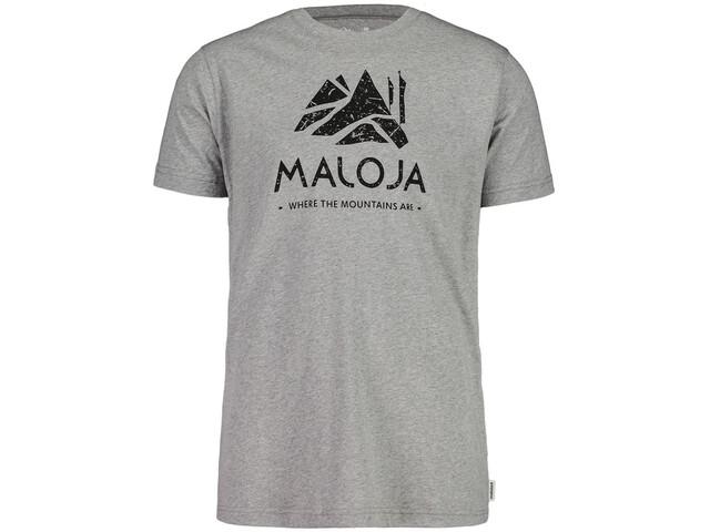 Maloja GrassitschM. T-Shirt Homme, grey melange